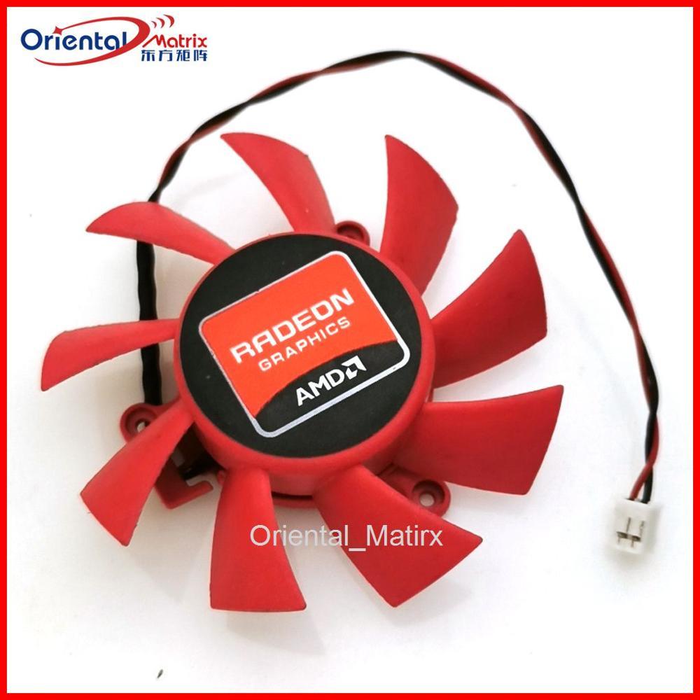 Computer Red Plastic VGA Video Card DC 12V Brushless Cooling Fan Value-5-Star