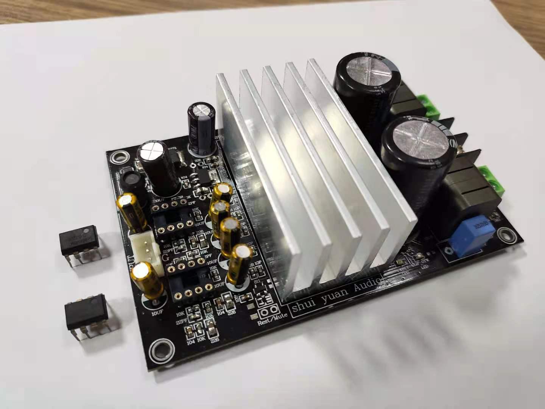 Плата цифрового усилителя shui yuan Audio TPA3255 2,0 DC24-48v, высокая мощность 300 Вт + 300 Вт, плата цифрового усилителя класса D o