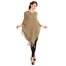 все цены на women fashion pullover poncho knit shawls fringe stole capes wraps overpull femme sweater poncho shawls pullon coat