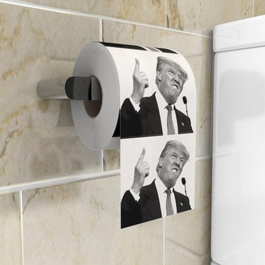 1 Roll Funny President Trump Toilet Paper Donald Prank Joke Trump Toilet Paper Funny Paper Tissue Roll Gag Gift