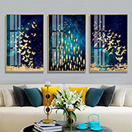 H46452b45f6e04e08b5441e4ad006e8397 Nordic Abstract Geometric Mountain Landscape Wall Art Canvas Painting Golden Sun Art Poster Print Wall Picture for Living Room