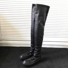 Women Shoes Over The Knee High Boots Luxury Sneakers Elastic Genuine Sheepskin Long Boots Casual Flats Platform Winter Booties(China)