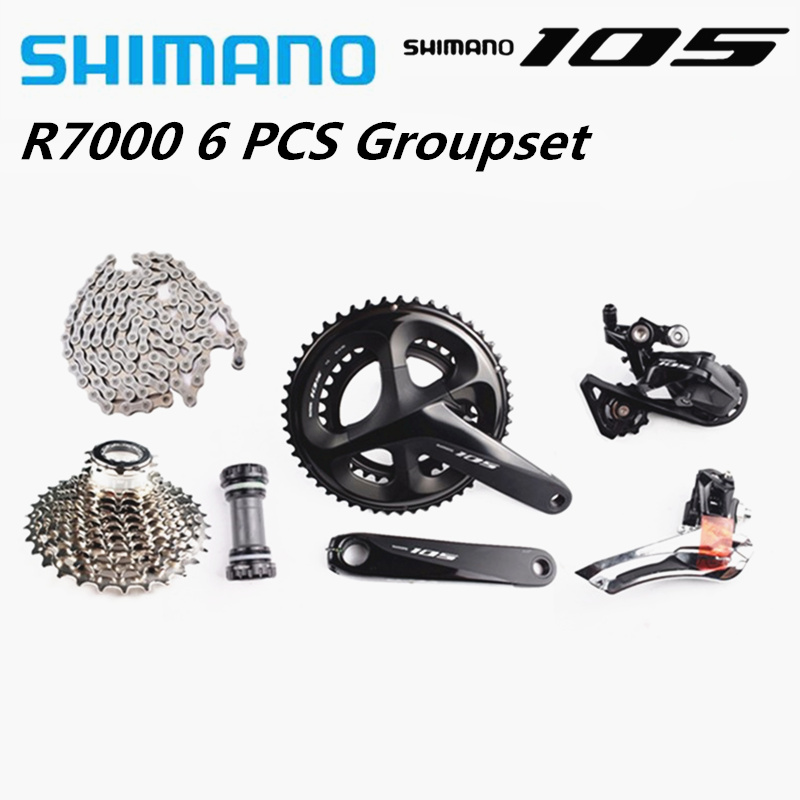 <font><b>SHIMANO</b></font> <font><b>105</b></font> R7000 2x11S Groupset Crankset SS Rear derailleur Cassette HG601Chain Road Bike Bicycle 11 Speed <font><b>Shimano</b></font> Groupset image