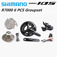 SHIMANO 105 R7000 2x11S Groupset Crankset SS Rear derailleur Cassette HG601Chain Road Bike Bicycle 11 Speed Shimano Groupset