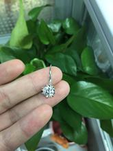 Provence Jewelry 18K Au750  White Gold D Color 8 mm Round Stone 4ct CTW Test Positive Lab Grown Moissanite Women Earrings