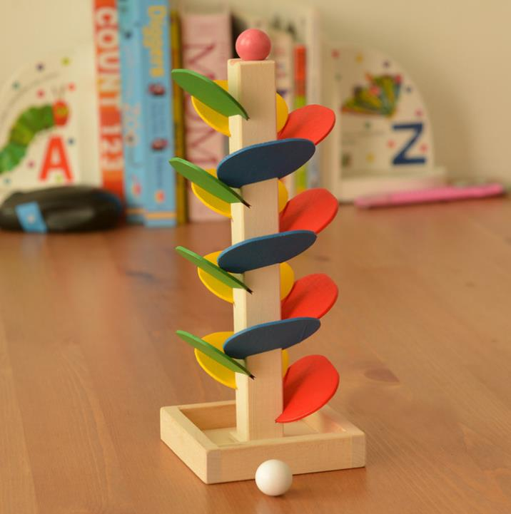 Montessori Sensorial Wooden Toy Colorful Leaves Wooden Educational Toy For Children Kids Material Montessori