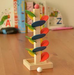Монтессори развивающая деревянная игрушка с разноцветными листьями для детей, материал Монтессори
