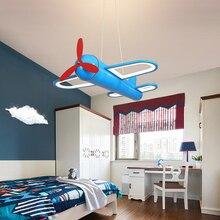 Aircraft led pendant light Modern blue yellow Cartoon pendant lamp for childern room light for Christmas gift bedroom decor