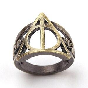 7 видов стилей кольца с надписью «Harry Snitch Deathly», винтажное волшебное школьное кольцо Хогвартс для фанатов