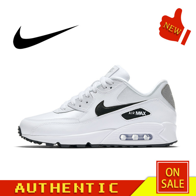Original Authentic NIKE AIR MAX 90 ESSENTIAL Men's Running Shoes Outdoor Fashion Sports Breathable 2019 New 325213-137