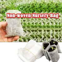 100pcs/set Non-woven Degradable Seedlings Lift Bags Fabrics Nursery Bags Pot Flowers Seed Pouch Potted Plant Grow Bag Breathable