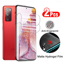 2 Pcs Matte Anti fingerprint Hydrogel Film On For Samsung S20 FE Galaxy  S 20 Ultra Plus 5G Screen Protector No Protective Glass