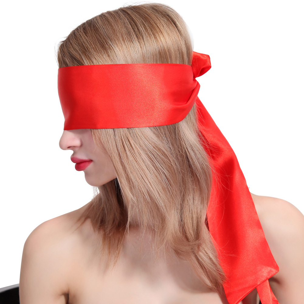 Soft Satin Erotic Eye Mask For Slave Bdsm Bondage Ankle Cuff Handcuffs Neck Collar Restraints To Couple Flirting Adults Sex Game