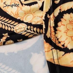 Image 5 - Simplee Vintage Bloemenprint Lange Vrouwen Jurk Zomer Sexy Lange Mouw Paleis Maxi Jurk Paisley 2019 Boho Robe Party Club jurk