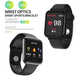 Image 2 - B57 montre intelligente étanche Smart Wriatband fréquence cardiaque pression artérielle surveillance de loxygène Smartband Smartwatch Bracelet intelligent CY05