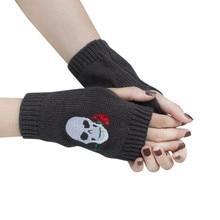 Тактические женские перчатки вязаные перчатки без пальцев Luvas зимние перчатки с черепом теплые Рукавицы Guantes тактильные Guantes Invierno Mujer# LR2