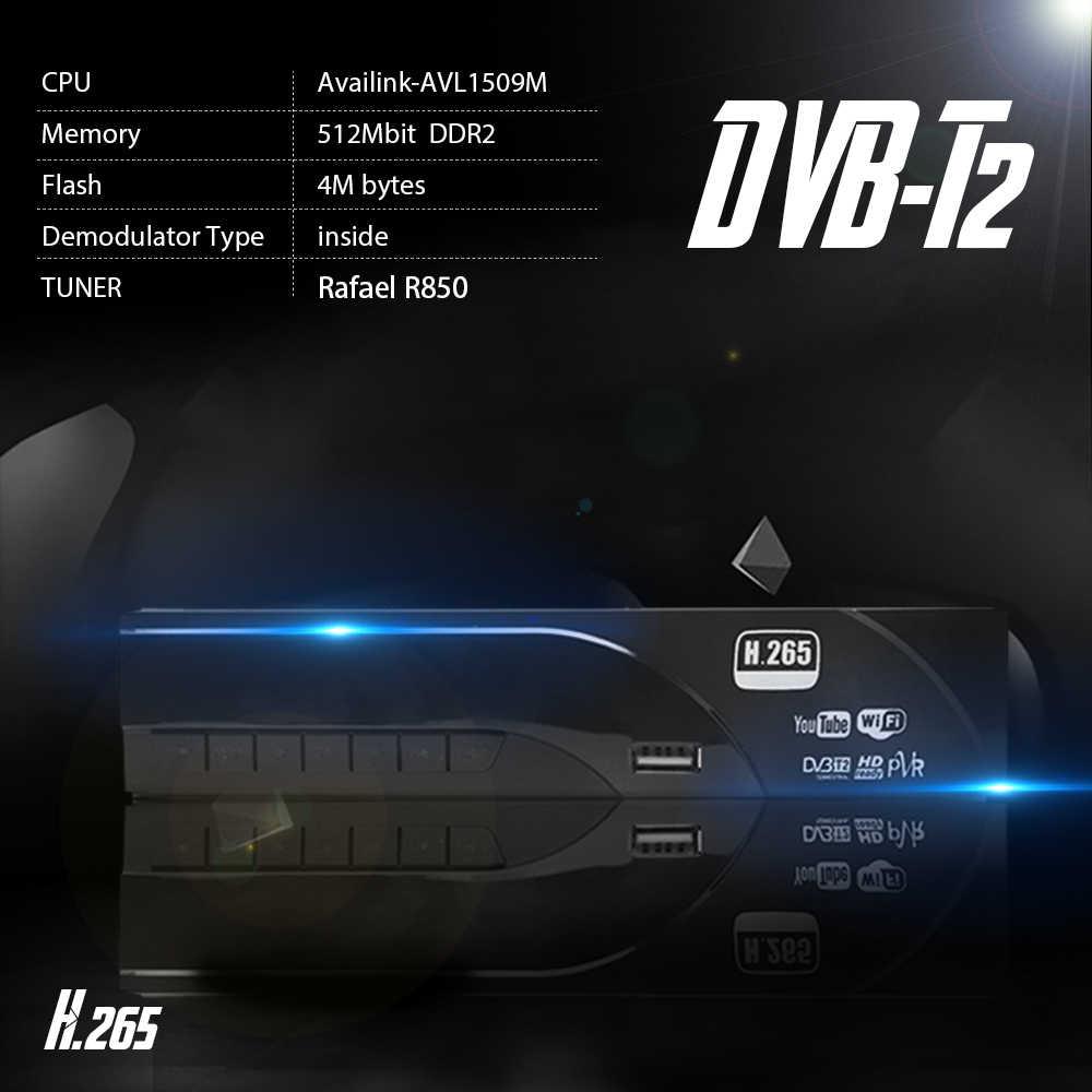 Vmade Original décodeur DVB-T2/T HD 1080P numérique terrestre TV récepteur prise en charge construit H.265/HEVC Dolby AC3 Youtube TV Tuner
