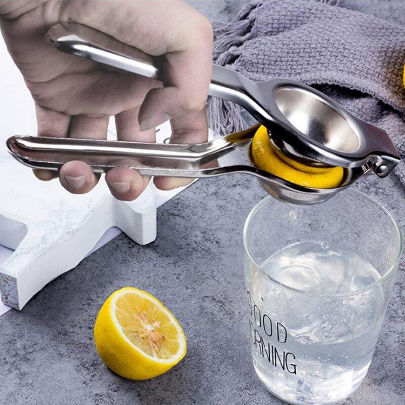 Küche Tools Lemon Squeezer Edelstahl Orange Entsafter Obst Saft Reibahlen Schnelle Griff Drücken Multifunktionale Werkzeug