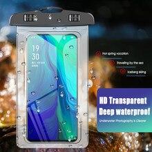Funda impermeable Universal de TPU para teléfono móvil, funda impermeable subacuática, bolsa seca para todos los Smartphones, hasta 7 pulgadas