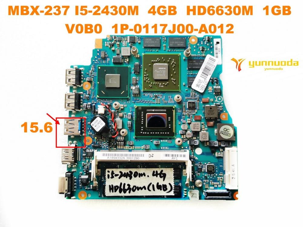 Original for SONY MBX-237 laptop motherboard 15.6 MBX-237 <font><b>I5</b></font>-<font><b>2430M</b></font> 4GB HD6630M 1GB A1894332A V0B0 1P-0117J00-A012 test image