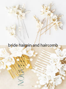 Hair-Pin Jewelry Rhinestone Crystal Handmade Bridal-Hair-Comb Wedding-Bridal