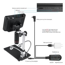 270X 1080P Andonstar AD407 High-Definition Digital Biological Microscope Camera for Soldering with 7 Inch 3D Screen and Bracket
