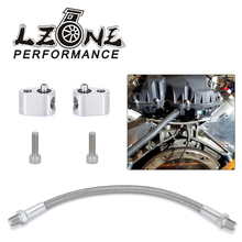 Aluminum alloy LS Throttle Cylinder Body Bypass Hose Kit Coolant Crossover LS1 Engine 551675 Steam Port Fits For all GM series