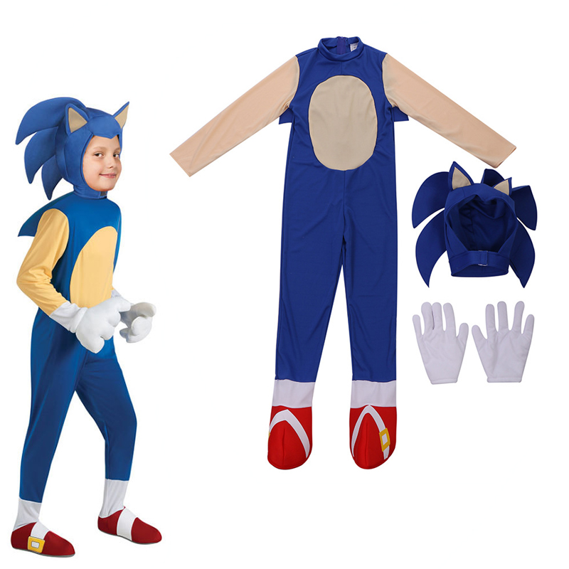 Deluxe Sonic The Hedgehog Costume Game Character For Kids Halloween Carnival Party Rompers Costume Game Costumes Aliexpress