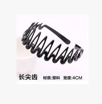 Новая мода Мужская Женская унисекс черная волнистая повязка для волос спортивная повязка для волос аксессуары для волос - Цвет: 7