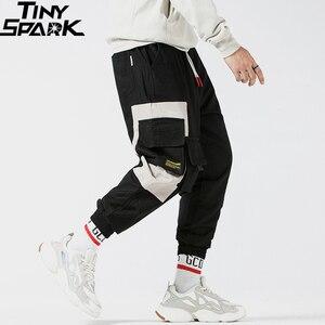 Image 3 - Pantalones Cargo a la cadera 2019, pantalones multibolsillos de Color negro para hombre, pantalones para correr, ropa de calle, pantalones tácticos militares de algodón verde