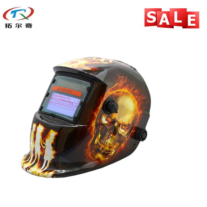 Chameleon Welder Mask PP Skull Solder Mask Electronic Custom TIG MIG Auto Darkening Welding Mask Welding Helmet HD14(2233DE)Y