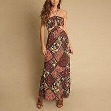 Fashion Women Dress Cutout  Summer Elegant Beach Long Vestidos