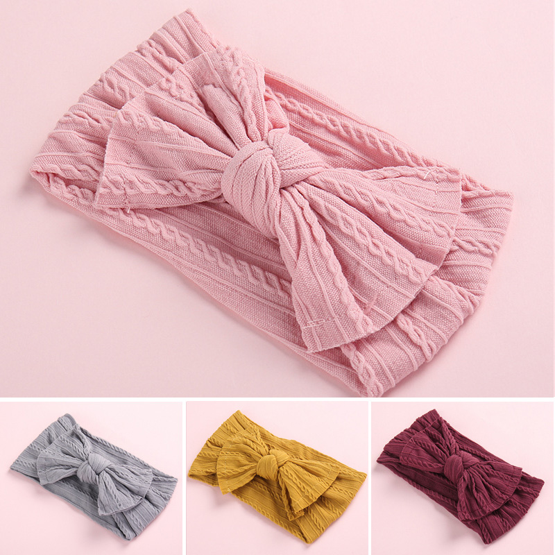 Baby Headband Bows Hair-Accessories Elastic-Turban Bowknot Kids