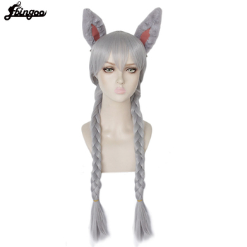 Ebingoo Rabbit Ears+Silver Grey Long Double Braid Judy Bunny Synthetic Cosplay Wig for Party Rabbit Ear Props ebingoo rabbit ears silver grey long double braid judy bunny synthetic cosplay wig for party rabbit ear props