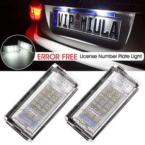 2pcs Car LED Number License Plate Light Lamp 51138236269 51138236854 for Bmw E46 1998 1999 2000 2001 2002 2003 2004 2005