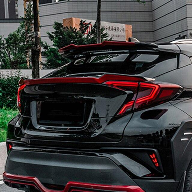 리어 스포일러 트렁크 립 윙 커버 도요타 CHR 2017 2018 자동차 운전 흐름 테일 리어 스포일러 For Toyota C-HR 2017 2018 2019