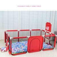 Большой Детский манеж, детский безопасный барьер, детский манеж для бассейна, шарики для новорожденных, забор, манеж для детского бассейна