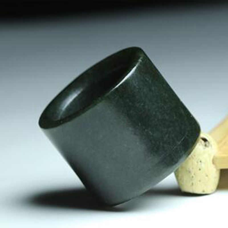 ธรรมชาติ Hetian Qingyu หยกแหวนแหวนเครื่องประดับ Fine เครื่องประดับแกะสลัก Lucky แหวนเครื่องประดับ