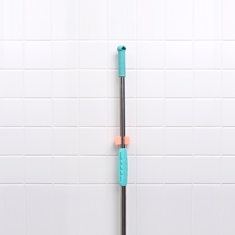 Wall Mounted Mop Broom Holder With Storage Rack Kitchen And Bath Holder Storage Tool 10