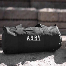 ASRV Black Large capacity man travel bag mountaineering backpack canvas bucket shoulder bag Canvas travel bag for men and women