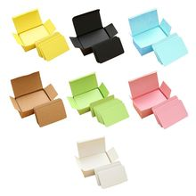 100 Pieces Yellow Cards White Blank Card Christmas Valentine's Day DIY Paper Box