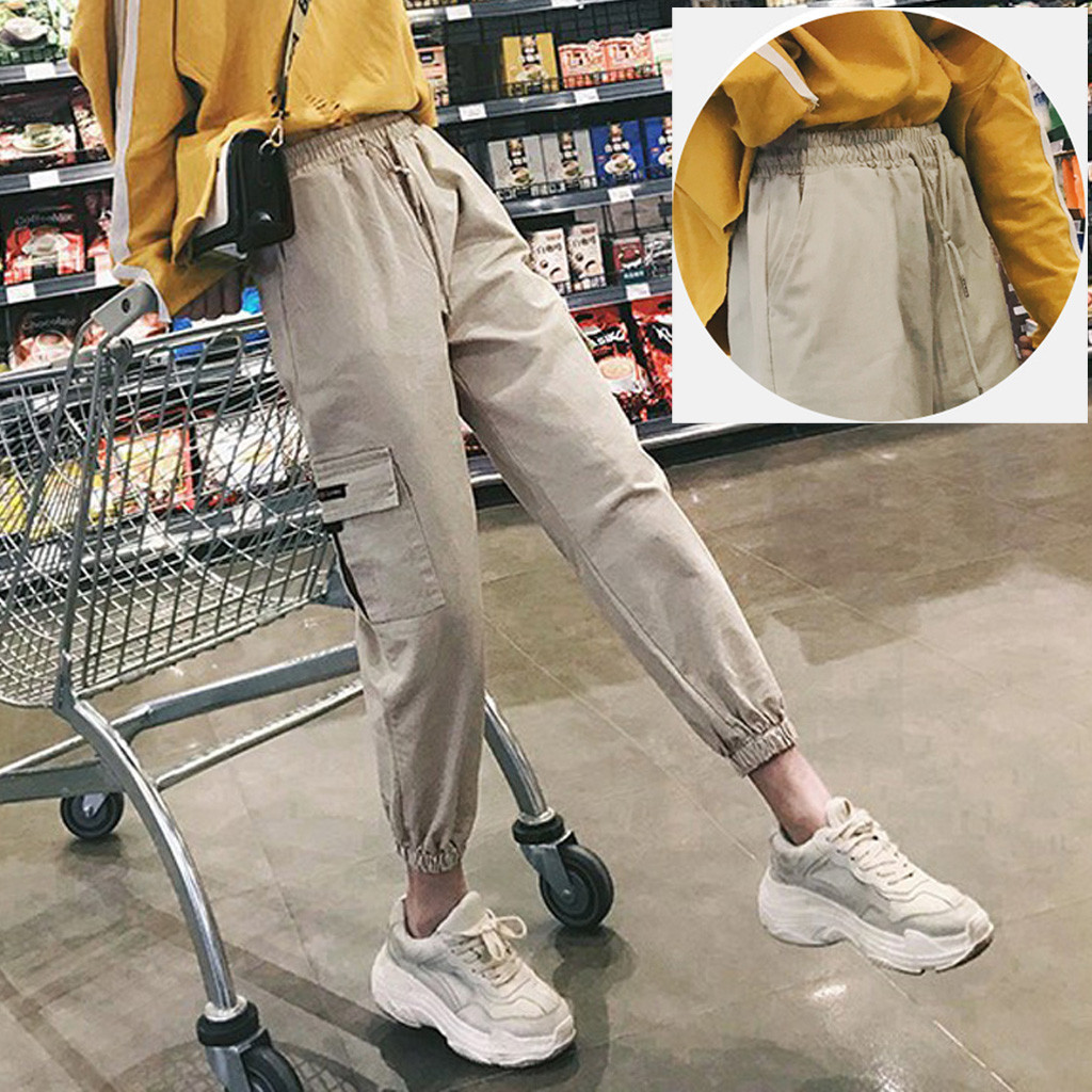 KANCOOLD Pants Women High Waist Casual Loose Girdle Trouser Harem Pants Spring And Summer Slim Fashion New Women Pants 2019DEC25