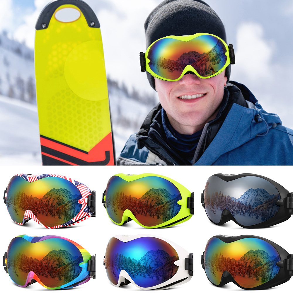 Ski Goggles Anti-Fog UV Protection Double Lens OTG Snow Goggles For Men Women Winter Sports Snowboard Snowmobile Skiing Skating