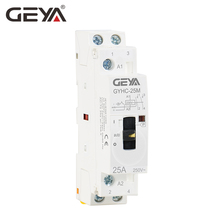 GEYA GYHC Modular Contactor 2P 16A 20A 25A 2NO or 2NC 220V Manual Control Household Contactor Din Rail Type недорого