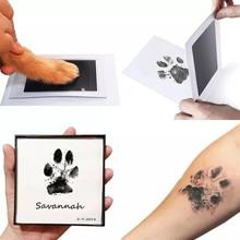 Seguro não-tóxico bebê pé handprint sem toque pele inkless tinta almofadas kits 0-6 meses recém-nascidos cão de estimação pata imprime lembrança produto