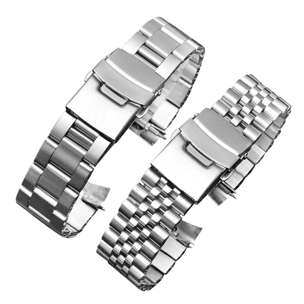 20 22 mm Edelstahl Uhr Band Armbänder Curved end Ersatz Für Seiko SKX007 SKX009 SKX011 ohne LOGO