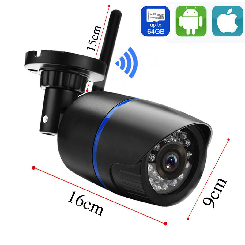 Image 2 - Outdoor wifi Camera 1080P 720P ONVIF Wireless P2P CCTV Bullet IP Camera Waterproof Audio Record Miscro SD Card Slot Yoosee App-in Surveillance Cameras from Security & Protection