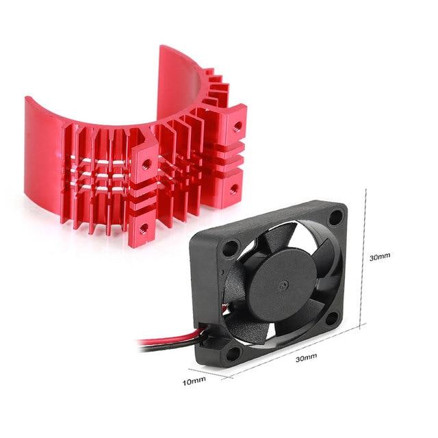 30mm podwójny silnik chłodzenia wentylator radiator 21000 obr/min przez 1/10 samochód zdalnie sterowany hsp zmodyfikowany 540 550 3650 3660 3670 3674 seria