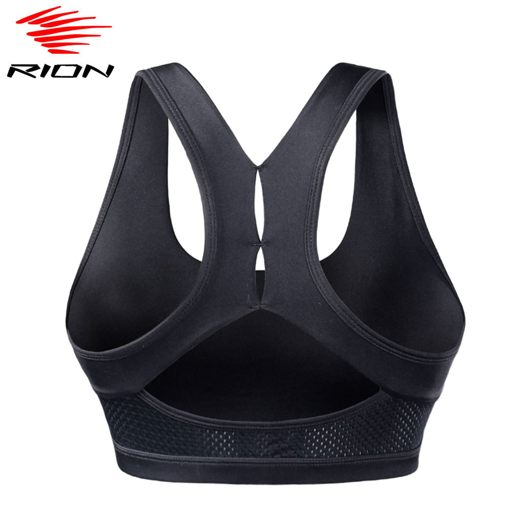 RION Top Women Seamless Sports Bra Running Yoga Crop Top Workout Gym Fitness Sport Bra High Impact Padded Underwear Vest Tank