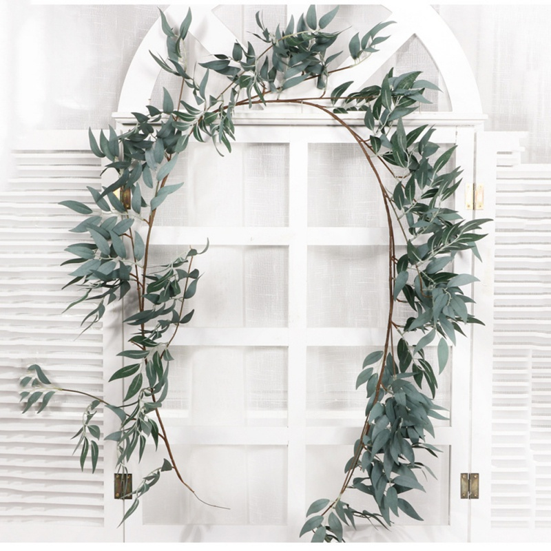 Simulation Wicker Green Leaves Decoration Home Garden Simulation Plant Rattan For Home Wedding Party Decorations